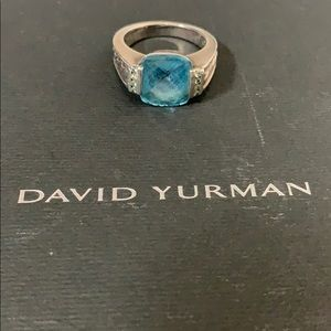 David Yurman topaz deco ring
